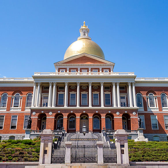 Massachusetts state house building