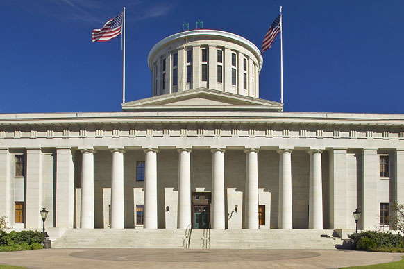 Map State of Ohio Showing State Capital of Columbus and ... |Ohio State Capital Map